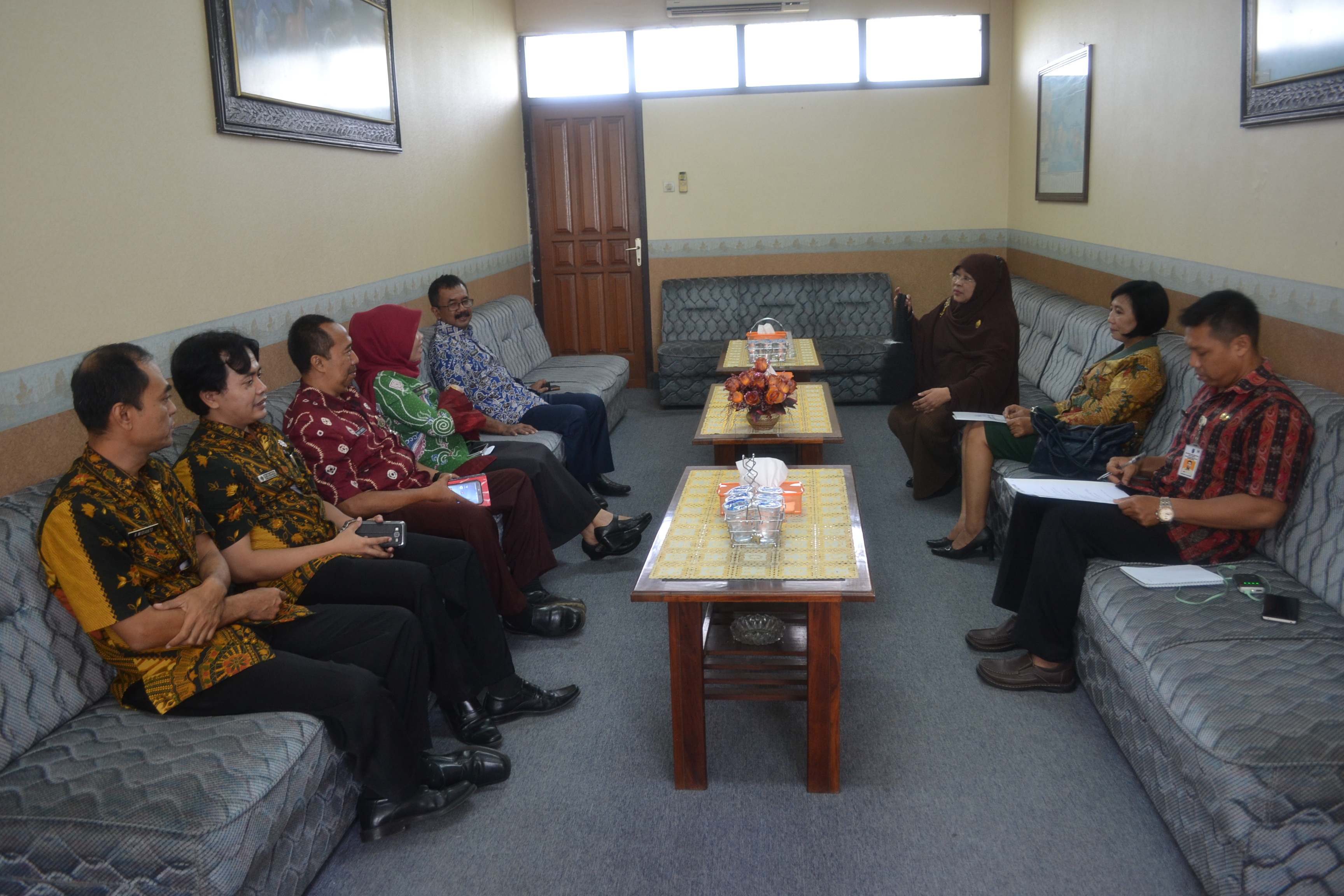 Visitasi Dari Komisi Informasi Provinsi Jawa Timur di PPID Kabupaten Blitar