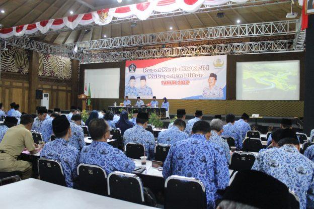 Sekda Pemkab Blitar Buka Raker Korpri Kabupaten Blitar Tahun 2019