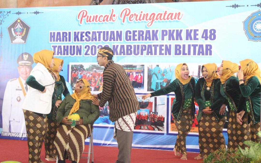 Puncak Acara HKG PKK ke- 48, Bupati Blitar : Peran PKK Kabupaten Blitar Sukseskan Pembangunan di Kabupaten Blitar