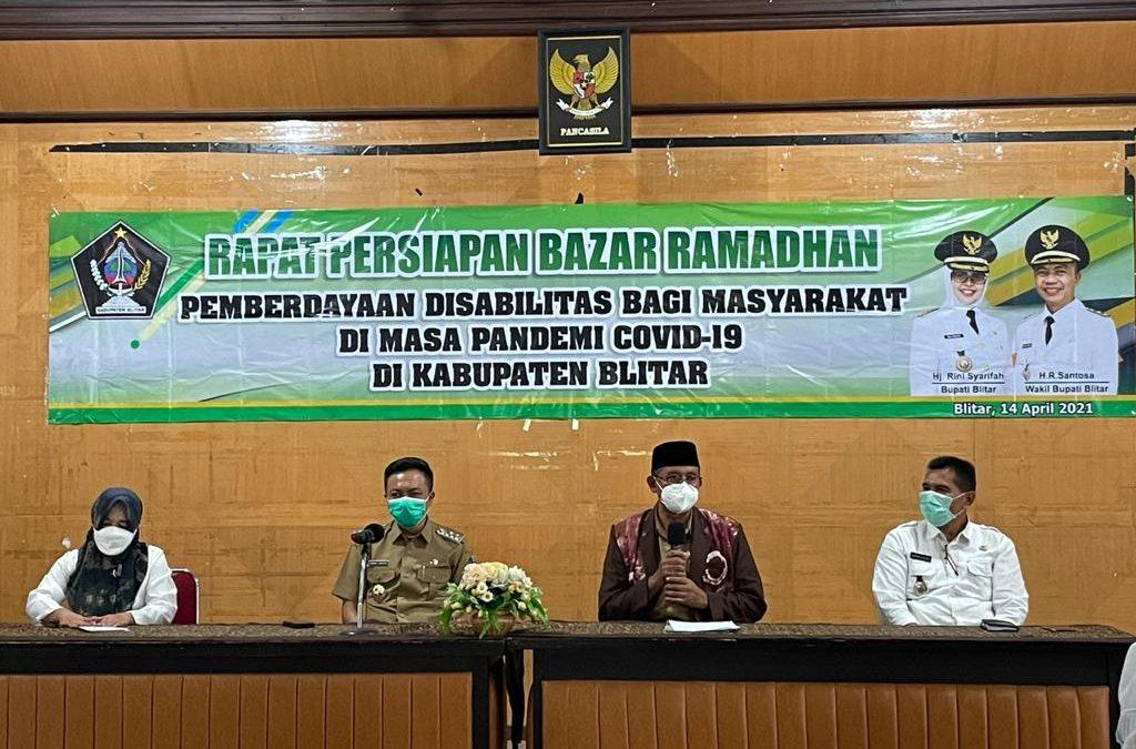 Pemkab Blitar Gelar Rapat Persiapan Bazar Ramadhan Dalam Rangka Pemberdayaan Disabilitas Bagi Masyarakat di Masa Pandemi Covid-19